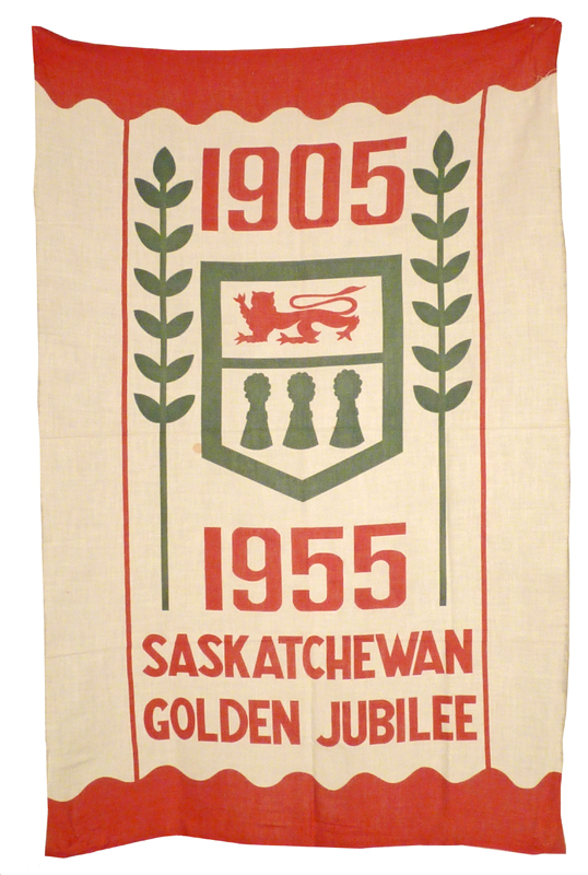 An example of the banner for the Saskatchewan Golden Jubilee fabric.